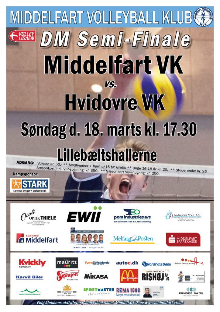 DM semifinale MVK vs Hvidovre VK 180318